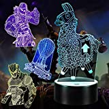 3D Illusion Game Night Light, 4 Patterns 7 Colors Change 3D Gamer Lamp with Timing Remote Control, Birthday Holiday Christmas Gift for Kids/Boys/Girls/Game Players