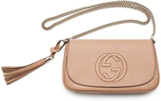 Soho Camelia Rose Beige Light Tan Leather shoulder bag New