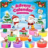 ELOVER Slime Advent Calendar 2020 Countdown to Christmas 24 Day Surprises for Kids Ages 3 and Up