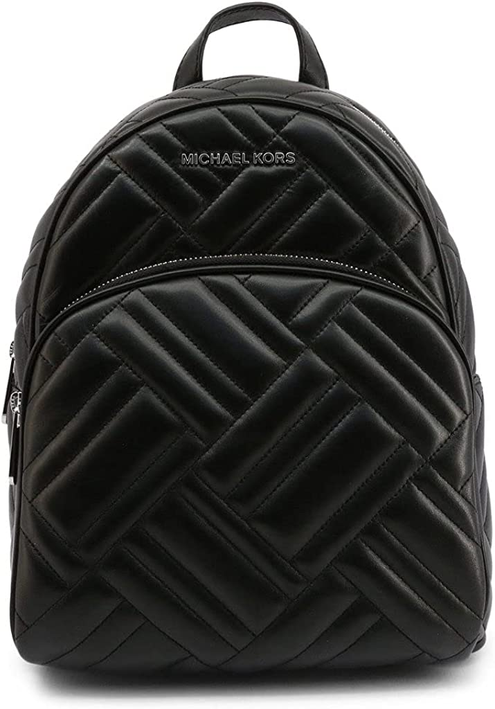 Michael Kors Abbey Leather Limited time cheap Cash special price sale Quilted Backpack Tote - Black