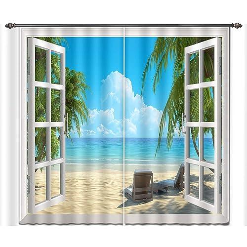 Beach Curtains Amazon Com