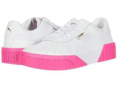 PUMA Cali (Puma White/Puma White/Fluo Pink) Women