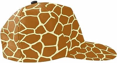 INTERESTPRINT Unisex Snapback Hats, Adjustable Printed Hip Hop Baseball Cap