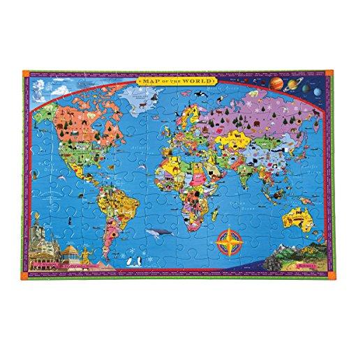 EeBoo- Puzzle, Mapa Mundo PZWR2