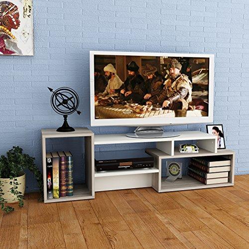 ALIDA Set Soggiorno - Bianco / Avola - Mobile TV Porta in design moderno