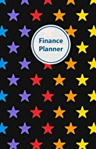 Finance Planner: Take control of your money. Incl. Monthly budgets, Expense and Debt payment tracker, Savings tracker, No spending challenge, Debt ... (Stars, rainbow colors. Soft matte cover).