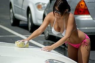 Gifts Delight Laminated 35x24 Poster: Twin Peaks Austin Bikini Car Wash Jul