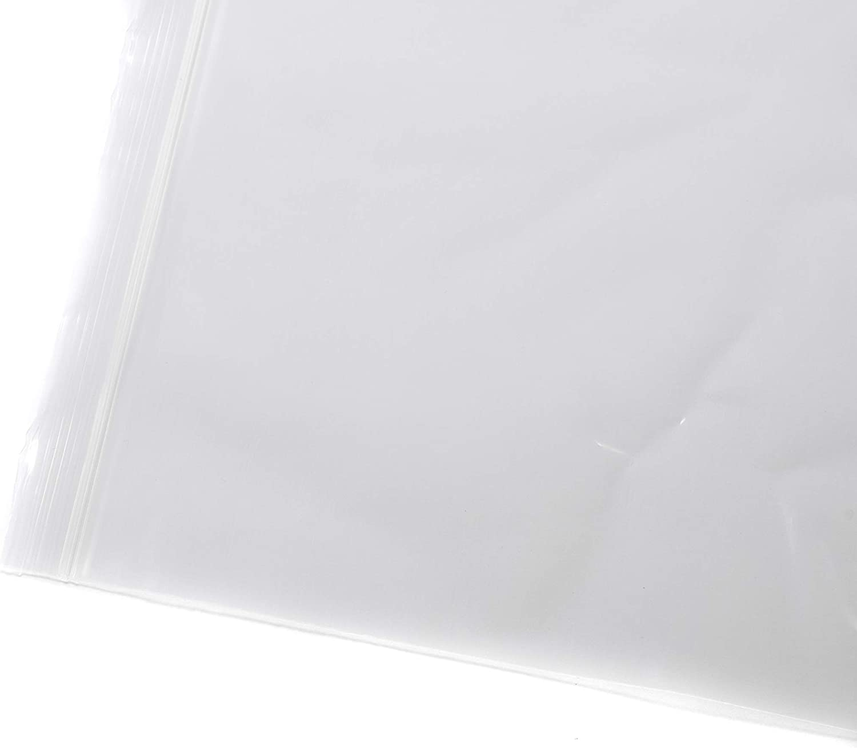 4 Mil - Tulsa quality assurance Mall 2 Gallon Extra Recloseable Duty Plastic Zippered Heavy