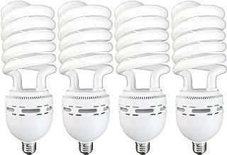 Luxrite LR20225 (4-Pack) 105-Watt High Wattage CFL Spiral Light Bulb, Equivalent to 400W Incandescent, Warm White 2700K, 6000 Lumens, E26 Standard Base