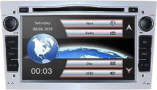 Auto DVD Player In Dash Auto Stereoanlage mit kapazitivem 7 Zoll Bildschirm, Auto Multimedia System für OPEL Antara Signum Meriva Vivaro Unterstützung Spiegelverbindung Bluetooth GPS RDS (Silber