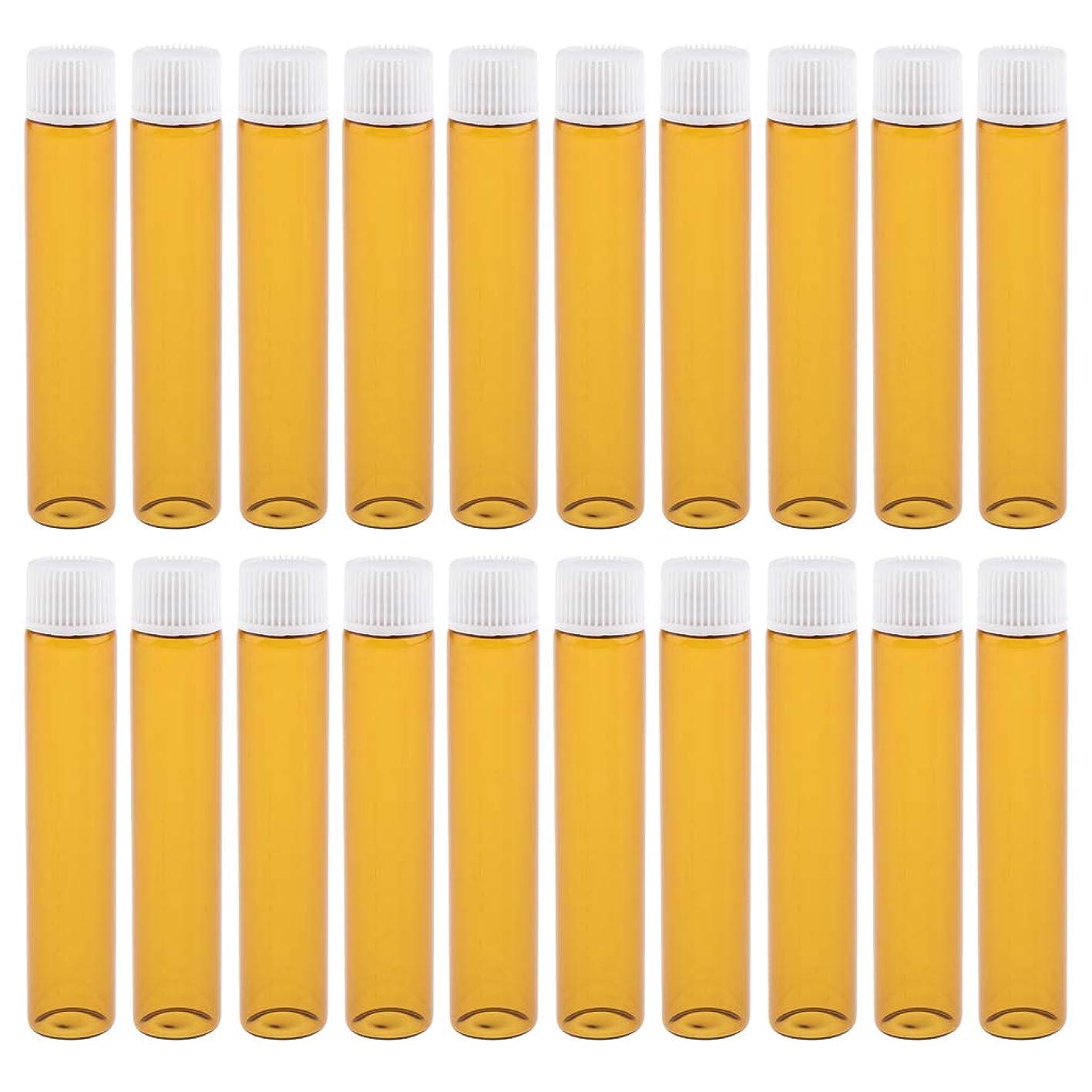 第五全くスナップgazechimp 20点 詰め替え式 ガラス瓶 エッセンシャルオイルボトル 香水ボトル アイクリームボトル 4カラー - トーニーホワイト