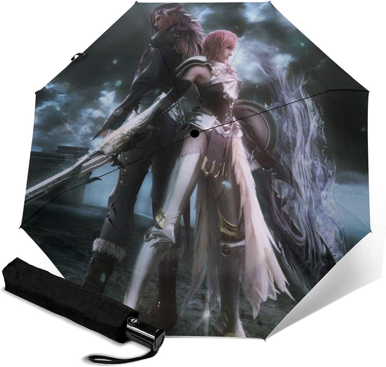 Popularity Final-Fantasy Automatic Tri-Folding Portable Umbrella Deluxe
