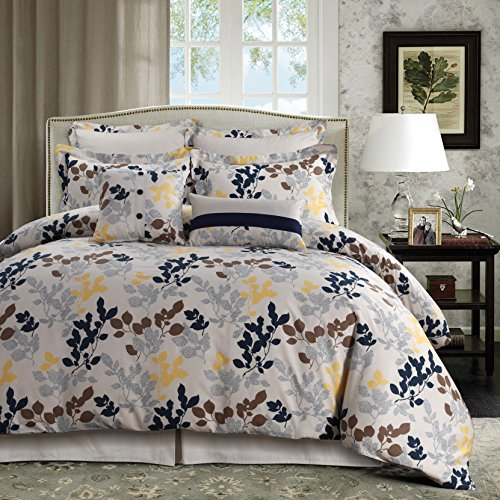 Tribeca Living BARC5PDSKI Oversized Duvet Set, King, Multi
