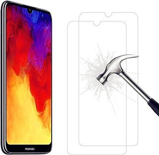 3 Pezzi Bear Village/® Vetro Temperato per Huawei Y6 2019 9H Durezza Nessuna Bolla 3D Touch Compatible Pellicola Protettiva in Vetro Temperato per Huawei Y6 2019
