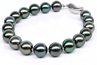 GOWE Pearl joyería negro verde/multicolor Cultivadas Tahitian Pearl pulseras