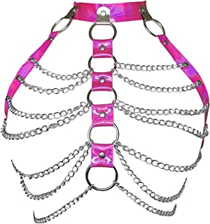 Women Punk Harness Bra Adjustable Cage Waist Belts Body Chest Harness Straps Roleplay Costume Clubwear
