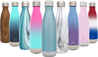 Simple Modern Stainless Steel Vacuum Insulated Double-Walled Wave Bottle, 25oz - Paradise Blue - Shimmering Collection