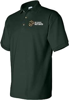 Best usmc retired polo shirt Reviews