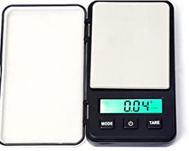 Pocket Scale Jewelry Weigh Scale High Precision Portable LED Screen Scale USB Charging Weight Balance Tool 100g/0.01g - Black