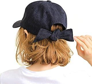 帽子 キャップ レディース 夏 ブランド 深め 黒 レディース帽子 バックリボンキャップ ワークキャップ 14+ イチヨンプラス 14プラス icap0112