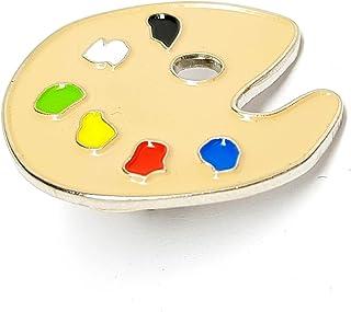 Spilla in Metallo smaltato Spilla (tavolozza Artista Pittore)
