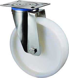 BS wielen H100.A90.150 RVS wiel, zwenkwiel, Ø 150 mm, schroefplaat, kunststof wiel