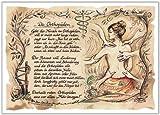 Die Staffelei Geschenk Karte Orthopäden Orthopädie Zeichnung mit Gedicht, 30 x 21 cm -