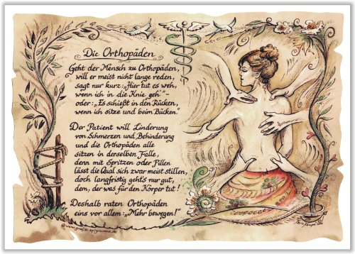Die Staffelei Geschenk Orthopäden Orthopädie Geschenk Zeichnung Color 20 x 15 cm