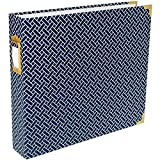 Project Life 380563 Album 12 x 12-Designer-Navy Weave