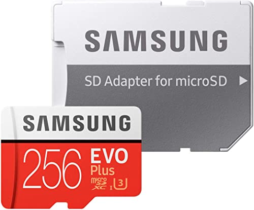 Sandisk Samsung 256GB EVO Plus Class 10 UHS-I microSDXC U3 with Adapter (MB-MC256GA), Black