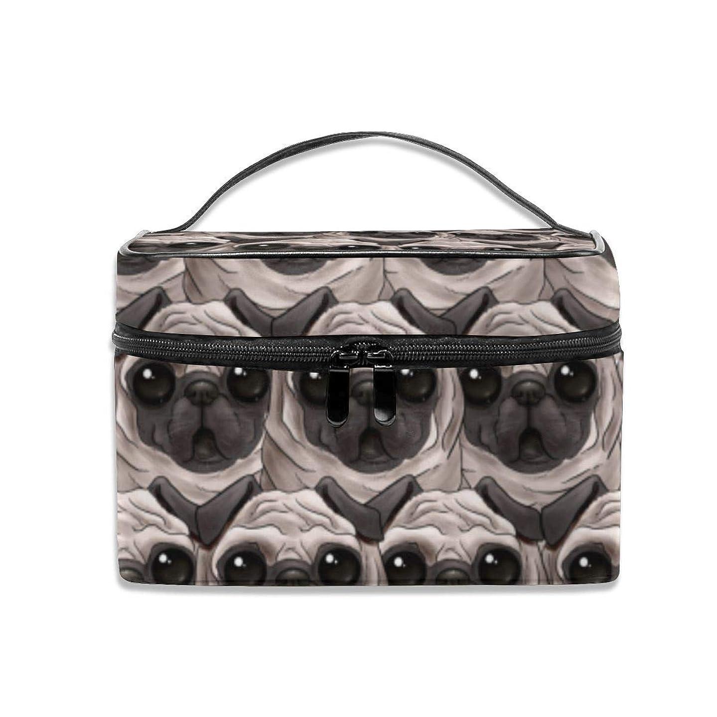 に同意するテキスト魅力的であることへのアピールZetena コスメバッグ メイクポーチ かわいい パグ 目 化粧ポーチ バニティケース トラベルポーチ 収納ボックス 化粧 収納 雑貨 小物入れ 出張用バック 超軽量 機能的 大容量