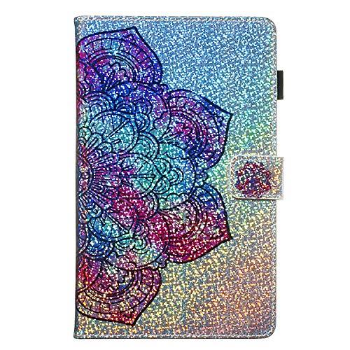 Candy House - Funda para tablet Samsung Galaxy Tab A de 7,0 pulgadas SM-T280 SM-T285, con purpurina brillante y soporte [tarjetero] cierre...