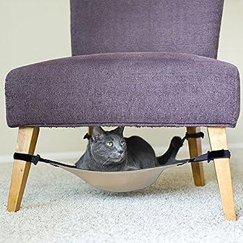 ChenRui Lit Hamac Sous Chaise Gris Couverture Doux Confortable Suspendre Salle Manger Pied Table Pour Chat Lapin Furet Chaton Rat Chiot Animal Compagnie