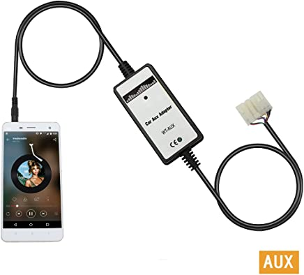 Yomikoo Aux Adapter, 3.5mm AUX Interface Car MP3 Player Radio Car Digital Music Changer
