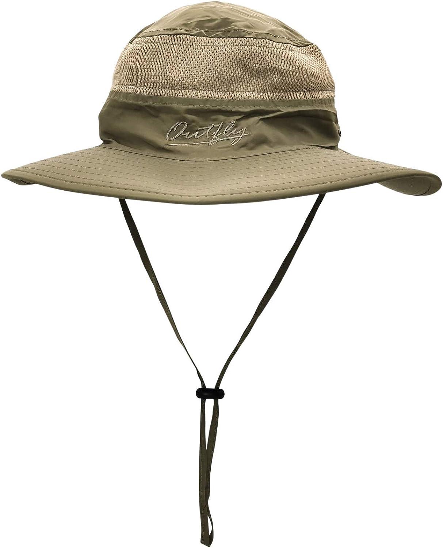 Waterproof Sun Hat Outdoor UV Protection Bucket Mesh Boonie Hat Adjustable Fishing Cap