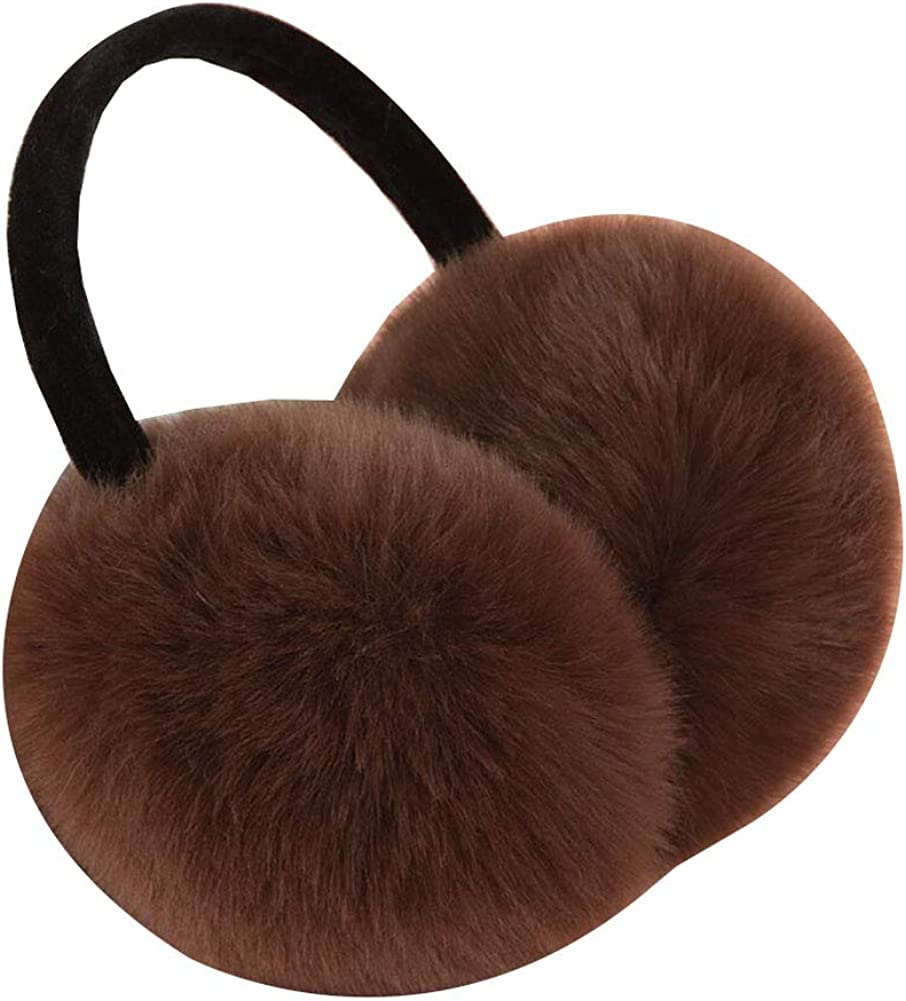 Phoenix Wonder Winter Ear Warmers Covers Soft Earmuffs for Cold Weather, Coffee