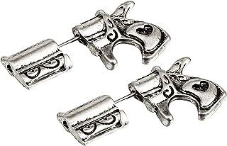 أنباي شخصية فريدة من نوعها سوداء بندقية فاسق مسدسة الأقراط كول ثقب الأذن مسمار أقراط للنساء الرجال بيان المجوهرات الهدايا