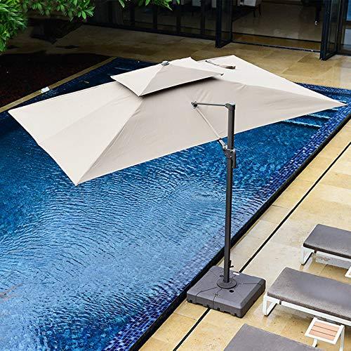 AIMCAE Sombrilla de Playa Grande, sombrilla con 8 Varillas Resistentes, protección contra la Lluvia y los Rayos UV, sombrilla de Patio, sombrilla en voladizo para jardín, Playa, Piscina