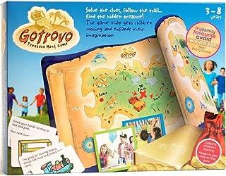 Gotrovo Treasure Hunt Game Indoor Outdoor DIY Educational Activity for Kids Learn through Fun - 100 Clue Cards, Treasure M...