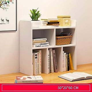 Escritorio librero simple escritorio Estantería Simple rack Estudiante Creative Assembly Inicio Biblioteca Mesa de estudio Estantería pequeño armario de esquina (color: C, Tamaño: 80X20X60CM) plm46