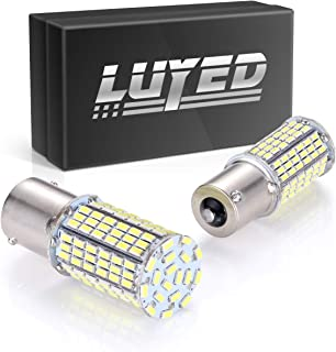 LUYED 2 x 1440Lumens Super Bright 1156 3014 144-EX Chipsets 1156 1141 1003 7506 LED Bulbs Used For Backup Reverse Lights,Xenon White