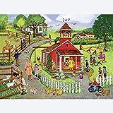 Sagusd Énigme DIY Creative Puzzle Jigsaw 1000 Pièces Bloc Adulte Pays École Maison De Ville Ferme 3D Jouet Chambre Décoration en Bois Puzzle Grand Cadeau