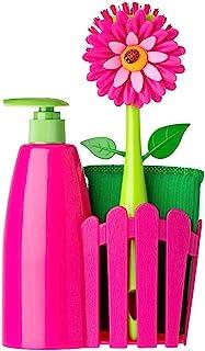 comprar comparacion Vigar Set Fregadero con dosificador de Jabón, esponja y cepillo lavaplatos.