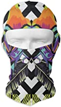 Balaclava Summer Tropical Animals Birds Striped Full Face Masks UV Protection Ski Hat Mask Motorcycle Hood for Cycling Hiking Women Men