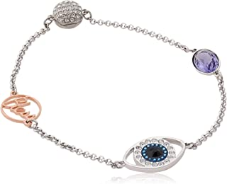 SWAROVSKI Women's Remix Collection Evil Eye Strand, Purple, Mixed metal finish