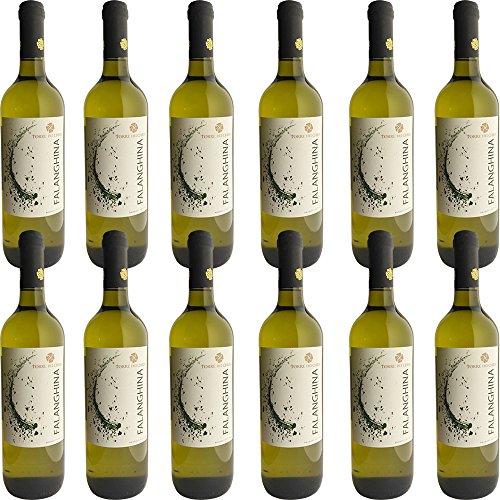 Falanghina del Beneventano IGP   Torre dei Chiusi   12 Bottiglie da 75Cl   Vino Bianco della Campania