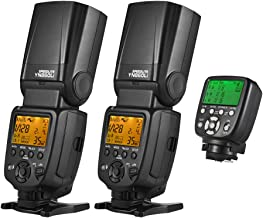 2PC YONGNUO YN860Li Universal Wireless Master Slave Flash Speedlite with 1800mAh Li-ion Battery + YONGNUO YN560-TX II Manual Flash Trigger Remote Controller LCD Transmitter for Canon DSLR Camera