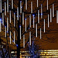 vineying 流星雨ライト ツリー用装飾ライト ルミネーションライト LED 8本セット 装飾品 クリスマス 正月飾り 元旦 祝日 綺麗 LED蛍光灯 流れる光 高輝度 アウトドア用