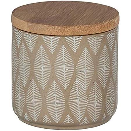 WENKO Boîte universelle Tupian beige - Boîte cosmétique, boîte à ouate, Céramique, 10 x 10.5 x 10 cm, Beige