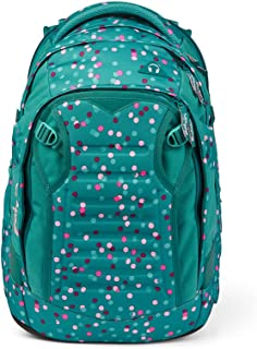 satch match skolryggsäck – ergonomisk, utbyggbar till 35 liter, extra framficka, Glad konfetti – mint, Einheitsgröße, Rygg...